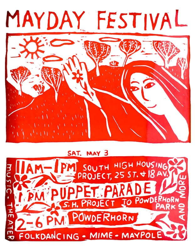 mayday 1975 poster by Ray St. Louis