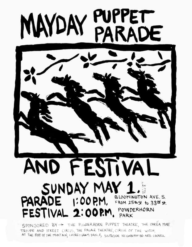 mayday 1977 poster by Sandy Spieler