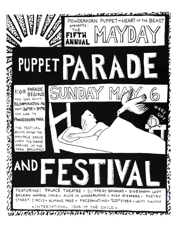 mayday 1979 poster by Sandy Spieler