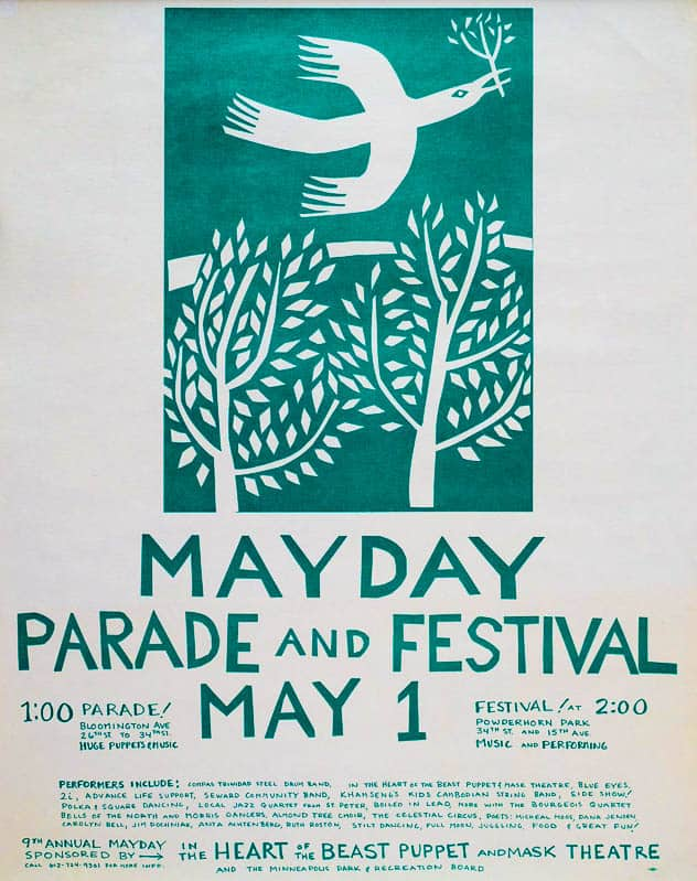 mayday 1983 poster by Sandy Spieler