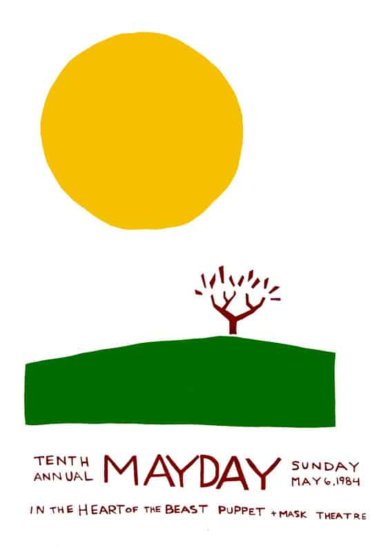 mayday 1984 poster by Sandy Spieler