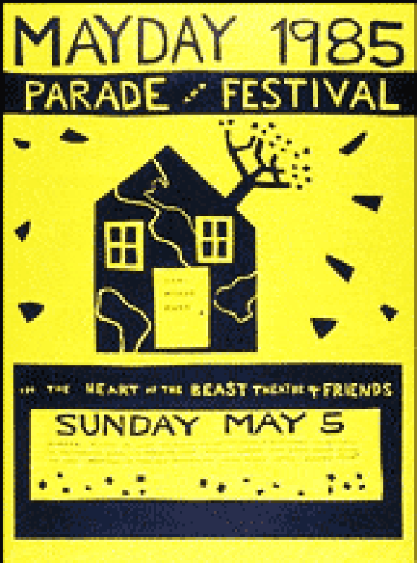 mayday 1985 poster by Sandy Spieler