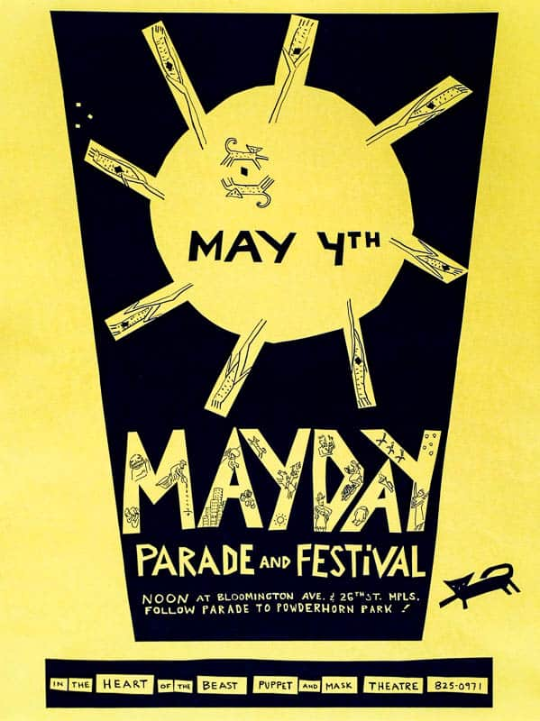mayday 1986 poster by Sandy Spieler