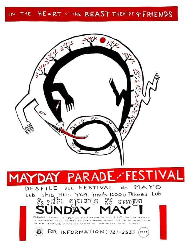 mayday 1988 poster by Sandy Spieler