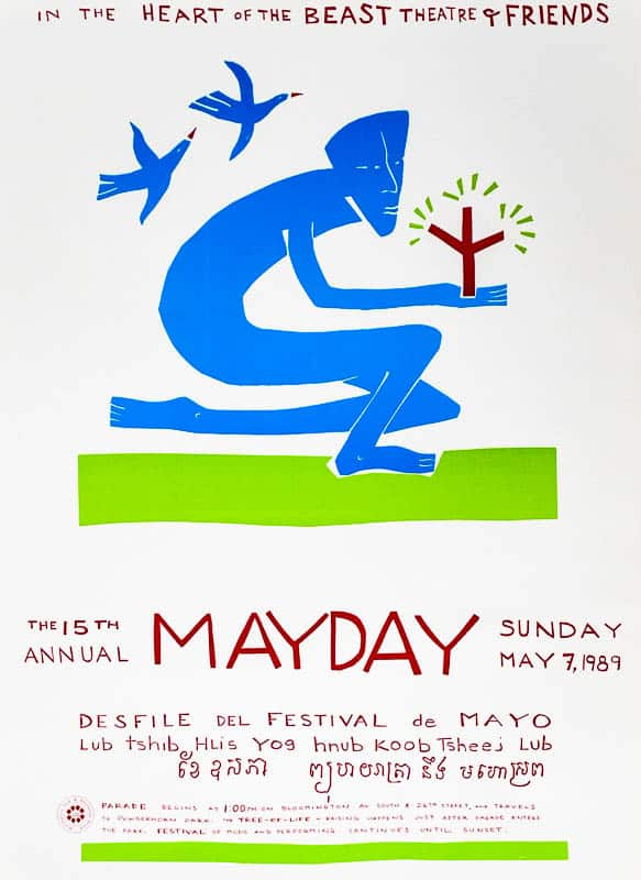 mayday 1989 poster by Sandy Spieler