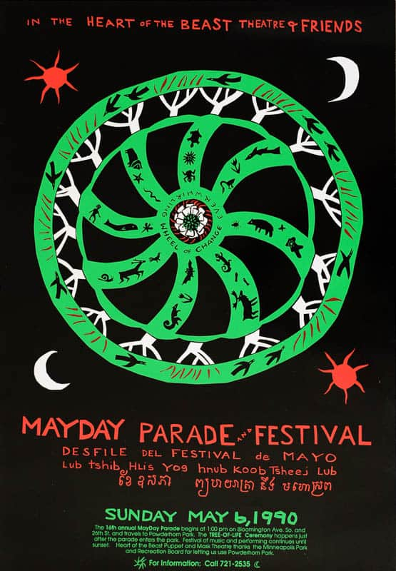 MayDay 1990 poster by Sandy Spieler