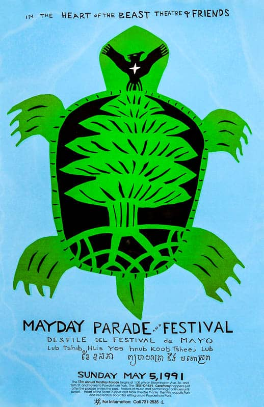 MayDay 1991 poster by Sandy Spieler