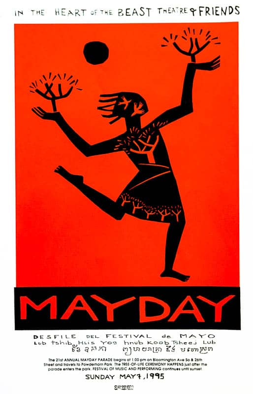 MayDay 1995 poster by Sandy Spieler