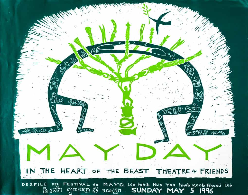 mayday 1996 poster by Sandy Spieler