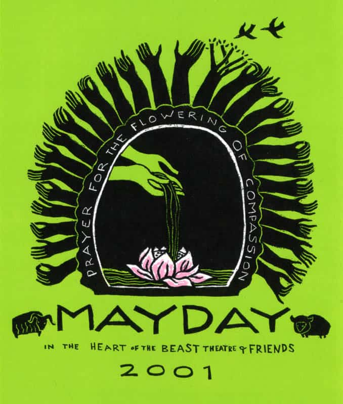 MayDay 2001 poster by Sandy Spieler