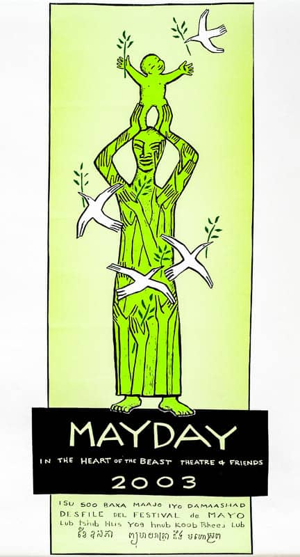 mayday 2003 poster by Sandy Spieler