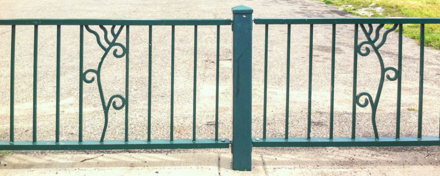 Lake Street Streetscape Railing by Sandy Spieler